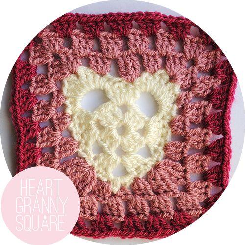 Vicki Brown Designs: heart granny square :: a pattern ::