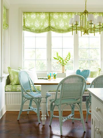 Relaxed Roman shade - great for kitchen