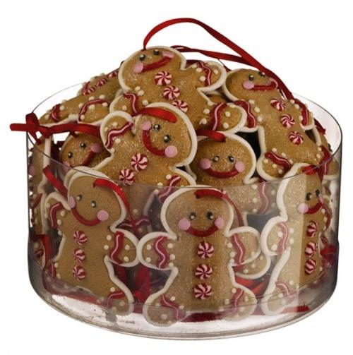 Mini Gingerbread Ornaments Set of 24 $15