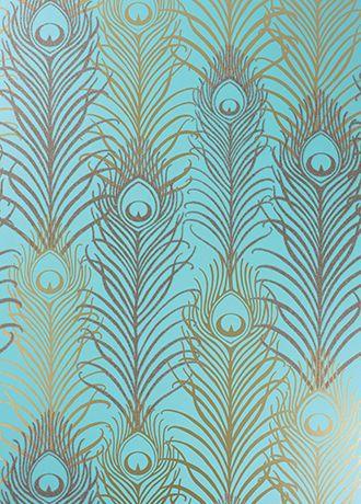 Peacock wallpaper from Osborne & Little - powder room glamour!
