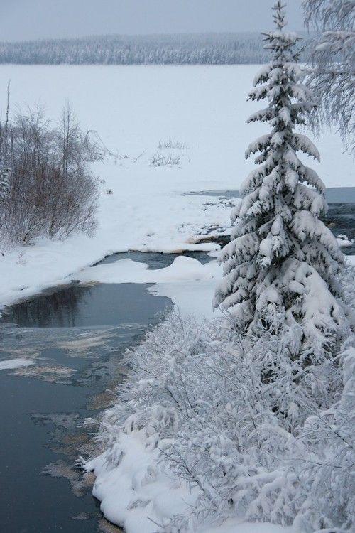 Luostan river, Ylä-Luosta by Paula Mikkonen