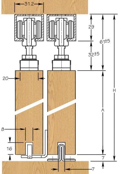 Geze Rollan Telescopic Sliding Door Kit | Sliding Doorstuff