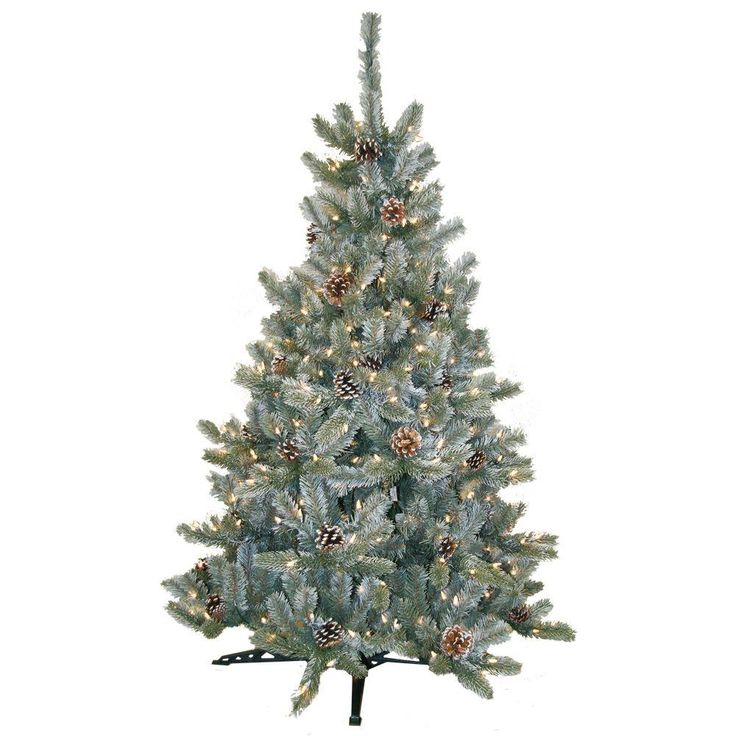 4.5 Ft. Pre-Lit Artificial Siberian Frosted Pine
