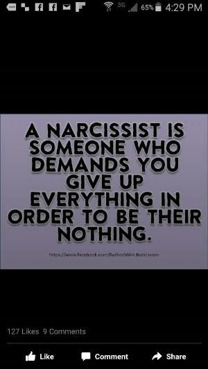 Narcissists demand and feel entitled to you and any resources you have. Narcissists are quite audacious because with all their entitlement and unreasonable demands they feel it's perfectly fine to give you NOTHING. #narcissistsareneedyentitledphonylosers #endnarcissism by margret