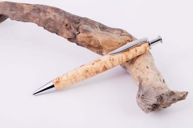 Holz-Klick-Kugelschreiber-Rosskastanie-Maser