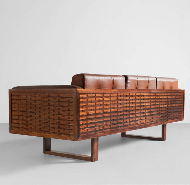 Paul cadovius rosewood and leather sofa 1960s for Sofa exterior marbella