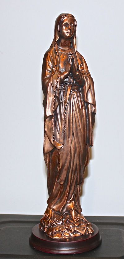Madonna - in Bronze - 12 inches tall               # R-2263                    $24.95