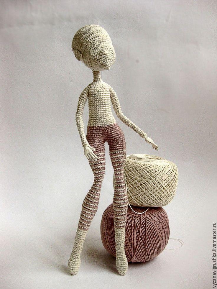Купить Мастер-класс по вязанию Основа для куклы - комбинированный, мастер-класс, мастер-класс по вязанию ♡