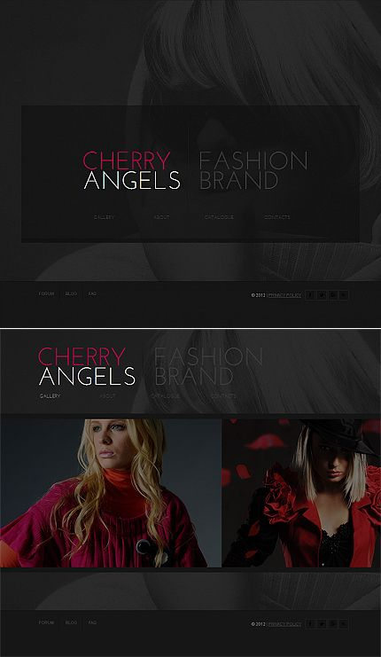 Cherry Angels Moto CMS HTML Templates by Sawyer