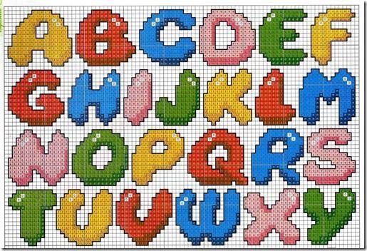 ABC 1/2 hama perler pattern
