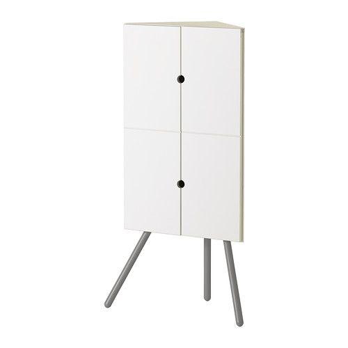 IKEA PS 2014 Eckschrank, weiß, grau weiß/grau 52x110 cm