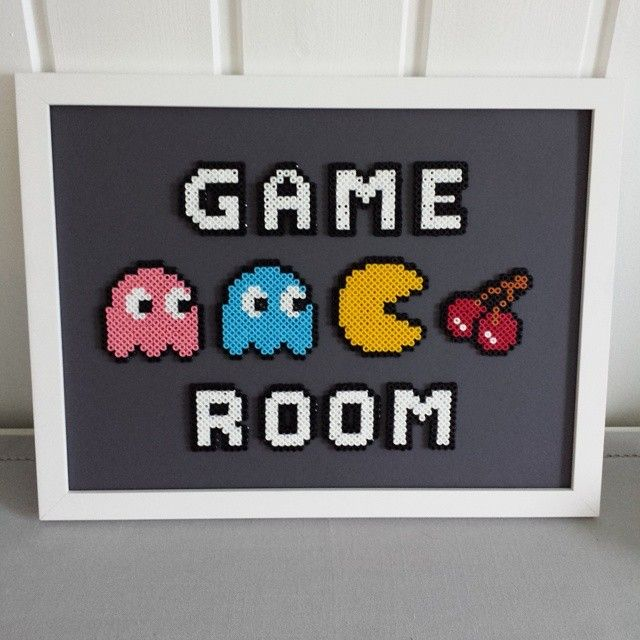 Game Room - Frame perler beads by sarahick