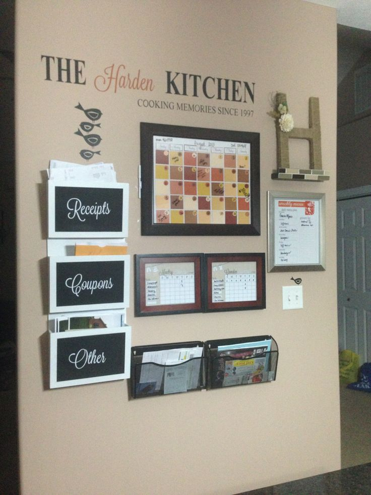 Diy Kitchen Calendar : Images about family command center on pinterest