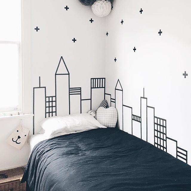 Toddler/little kids bedroom theme: City skyscraper