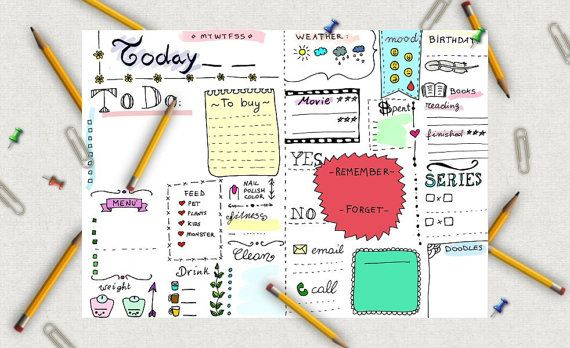 colored+journal+printable+daily+planner+agenda+by+LaSoffittaDiSte