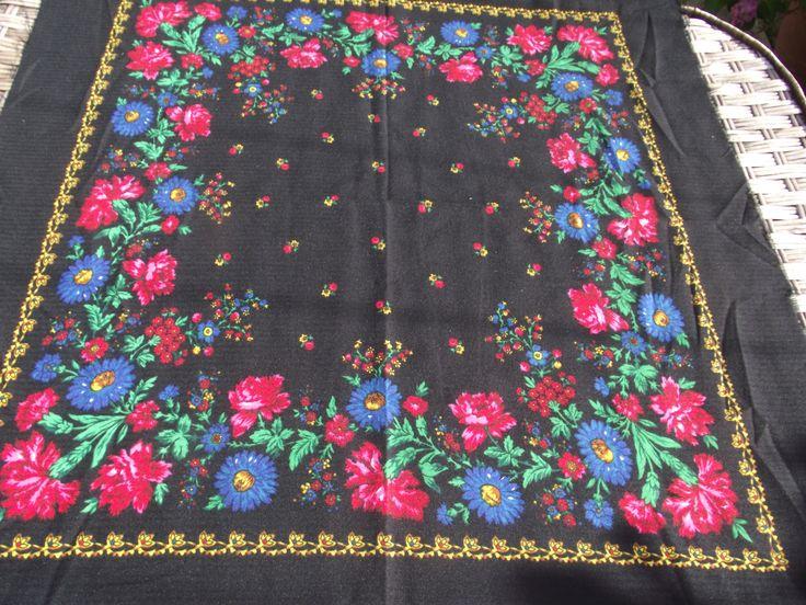 Beautiful russian scarf Floral Shawl Vintage Ukrainian Romanian scarf old shawl Soviet Shawl romanian style women A perfect gift for her by RussianshawlMayya on Etsy