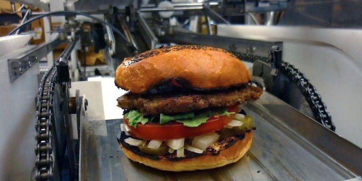 Fast food robot chefs fast food workers food food industry