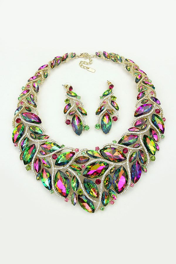 Crystal Davida Necklace in Vitrail on Emma Stine Limited