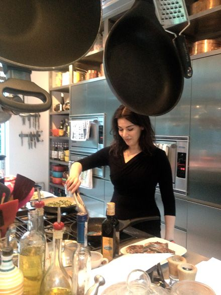 The one and only Nigella Lawson    http://www.nigella.com/kitchen-witter/view/13th-april-2012-104
