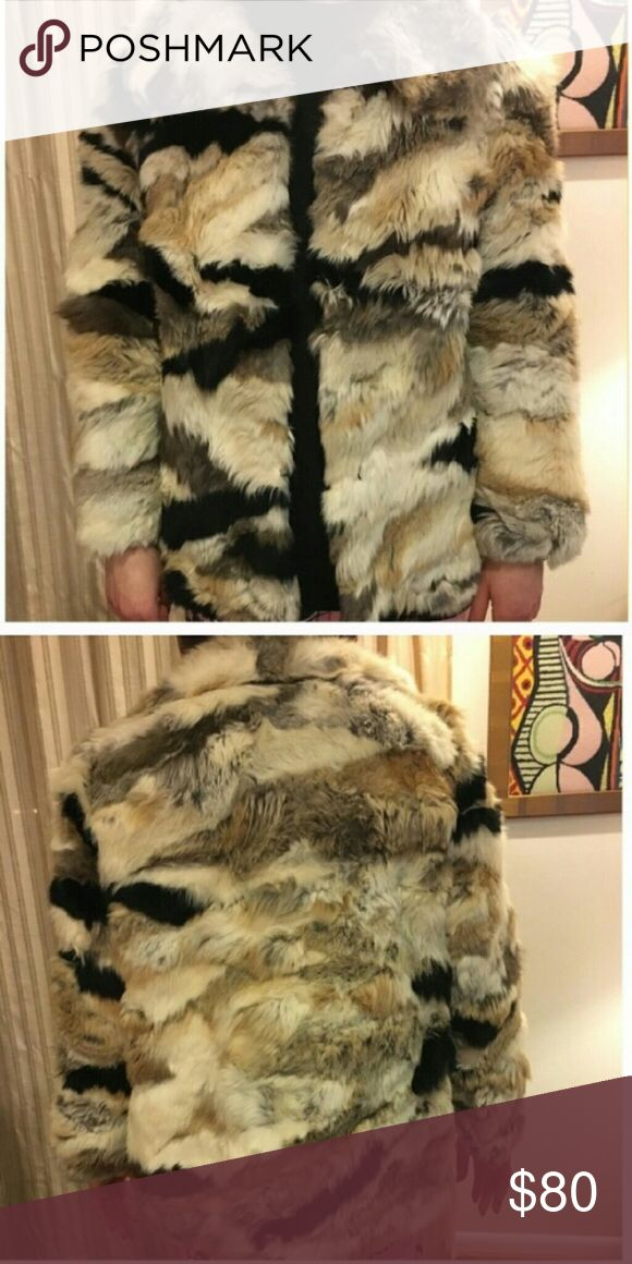Rabbit Fur Jacket Patchwork fur jacket, In great condition, true to size  💰Will consider official offers  📬 Fast shipping  🏡 Smoke & pet free home  📦 Bundle to save 20% 💕 Share for share  🙅🏻 No trades 🙋🏻 Questions welcomed! Jackets & Coats