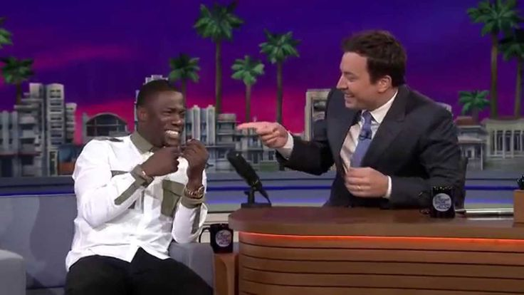 Jimmy and Kevin Hart on a roller coaster