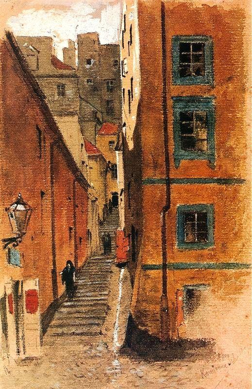 Aleksander Gierymski, Stone Stairs, Street