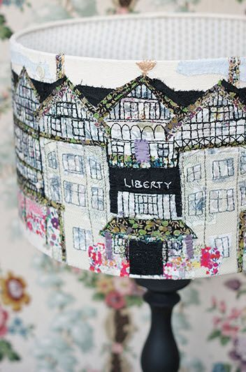A close-up of the lampshade by Marna Lunt. via http://www.mrxstitch.com/