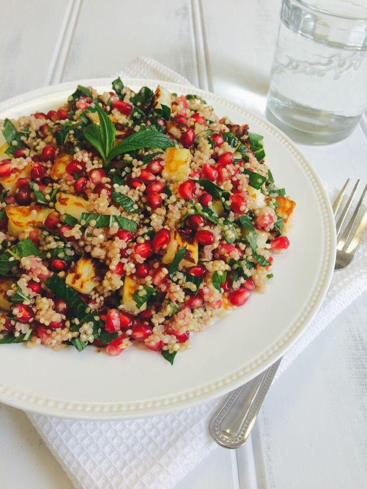 Haloumi, Pomegranate, Mint and Quinoa Salad