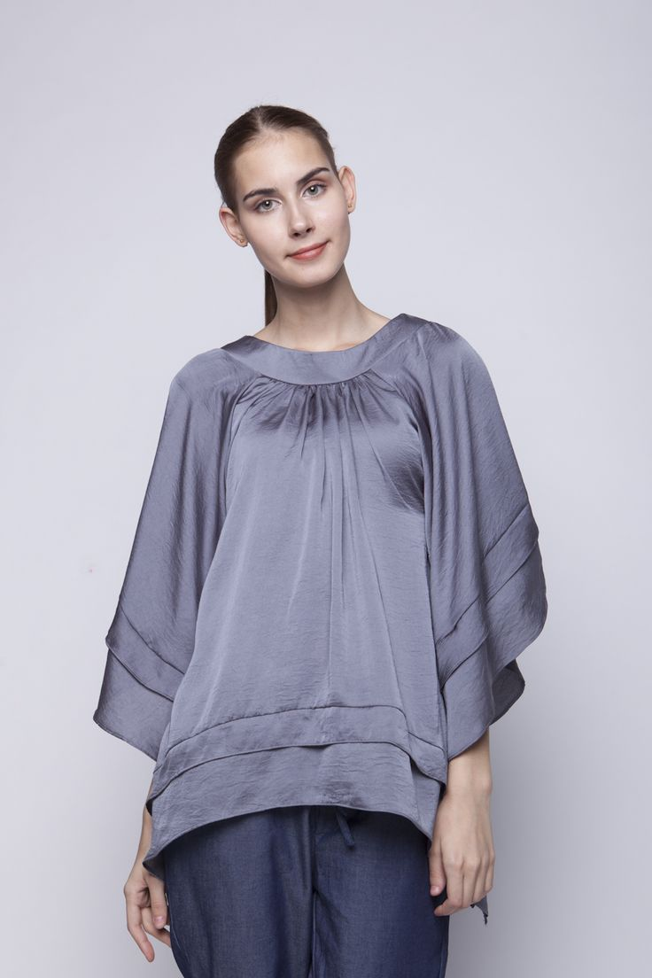 Lily Blouse Grey | Rp 221.250
