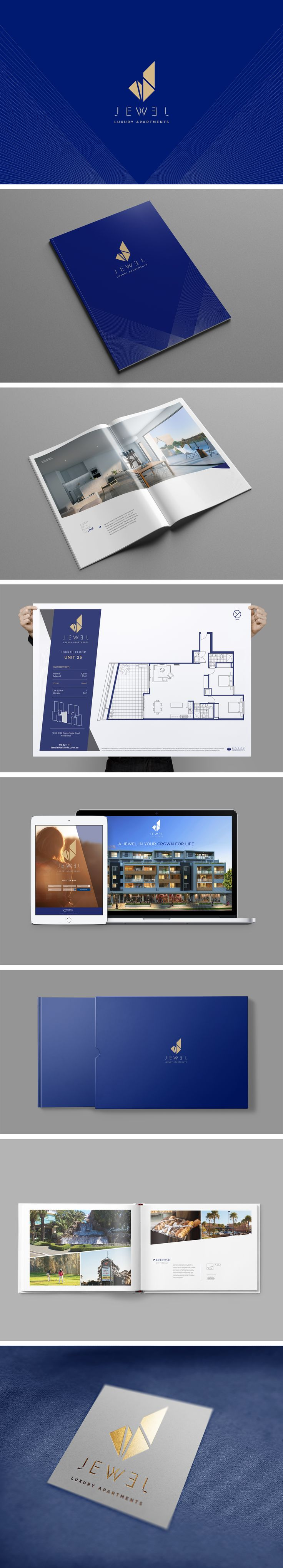 Jewel Roselands is an apartment complex situated in one of Sydney's best suburbs in the Southwest. Made designed their marketing collateral and brand identity to reflect and enhance the architecturally ingenious modern residences.