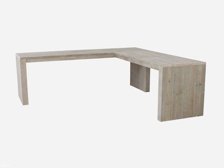 Steigerhouten hoekbureau. We leveren dit steigerhouten bureau binnen twee weken bij je thuis in elke gewenste maat. Gratis geleverd.