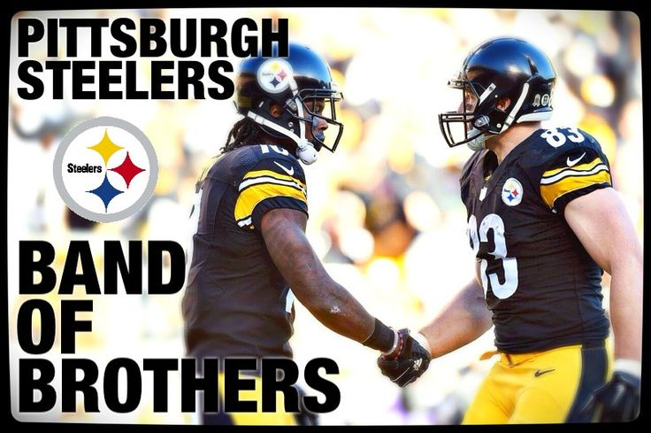 the pittsburgh steelers are a band of brothers.  martavis bryant and heath miller show the bond, from the unlikely orange