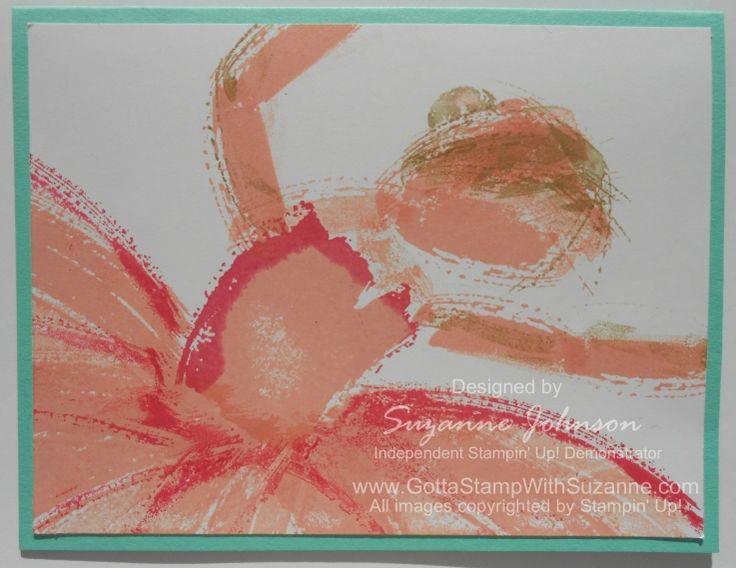 Ballerina made with Work of Art stamp set.