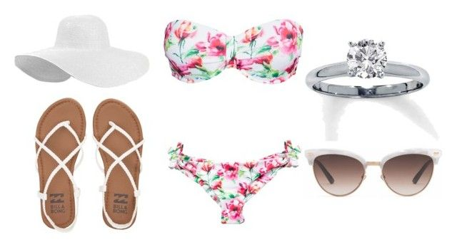 """""""Swimsuit[2]"""" by agentpalmer on Polyvore featuring Hot Anatomy, Gucci and Billabong"""