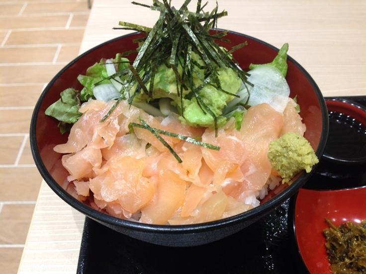 Japanse Bowl of Rice (Avocado and chicken ham)  #Japan #Food #Rice