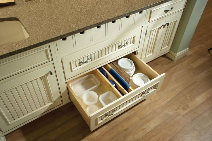 Kitchen Cabinet With Custom Organization For Tupperware