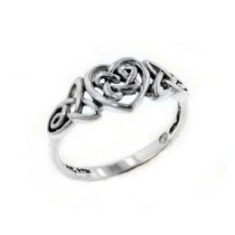Romantic Heart Celtic Knot Ring -- this would also make a cute 'stand-in' ring for the proposal and while the official engagement ring is picked out.