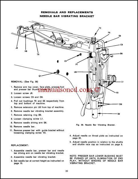 Singer 237 Sewing Machine Service Manual Download   Sewing Machine Manuals   Sewing machine