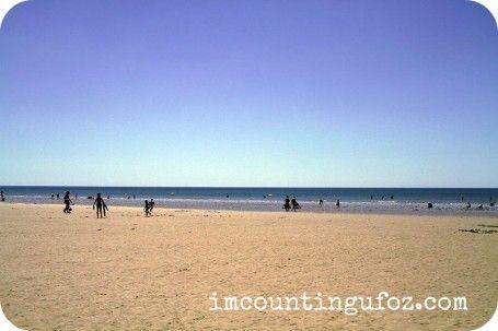 The wonderful fine sandy beach at St Jean de Monts, Vendée, France