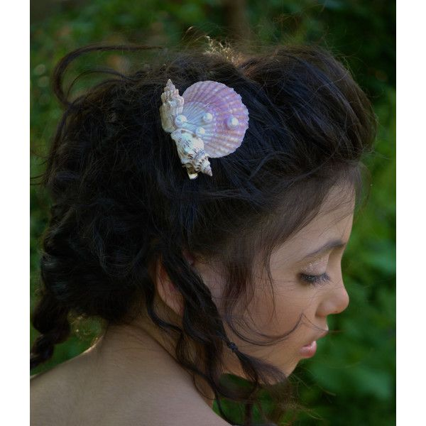 Seashell Hair Clip Mermaid Hair Clip Seashell Hair Accessories Under... ($15) ❤ liked on Polyvore featuring accessories, hair accessories, barrettes & clips, dark olive, pearl barrette hair clip, shell hair accessories, pearl hair clip, pearl hair accessories and barrette hair clips