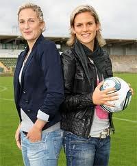 Laura and Alisa Vetterlein   VFL Wolfsburg   German Champion 2013  DFB Pokal winner 2013  Champions League Winner 2013