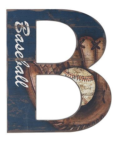 Look what I found on #zulily! Letter B Baseball Wall Art #zulilyfinds