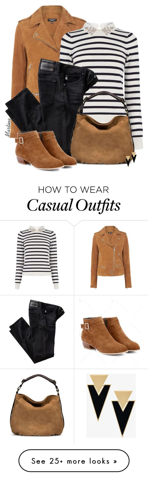 """Bez naslova #2815"" by martina-cciv on Polyvore featuring Warehouse, Oasis, AG Adriano Goldschmied, UGG and Yves Saint Laurent"