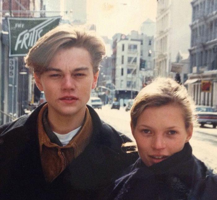 Leonardo Dicaprio and Kate Moss 90s