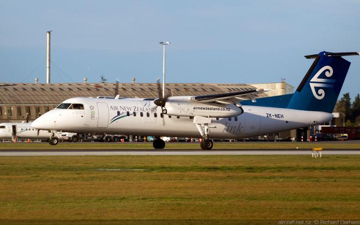 Air New Zealand Link (Air Nelson) Q300 landing at Christchurch