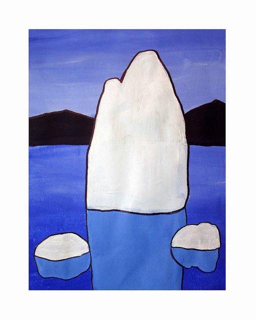 ICEBERGS (acrylic painting) inspired by Canadian artist Doris McCarthy.