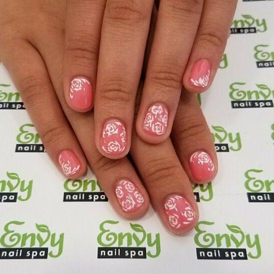 Nail Art Salon Spa Charlottesville Va: 17 Best Ideas About Pink White Nails On Pinterest