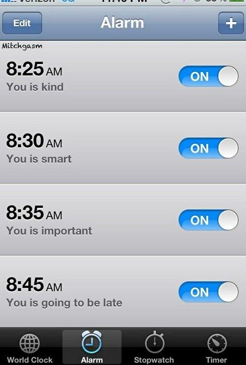 I should put this for myself instead of saying wake up sleepyhead!