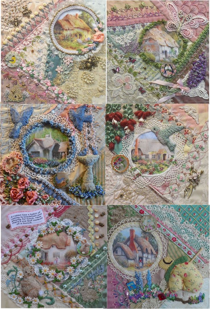 I � Crazy Quilting, Beading & Ribbon Embroidery