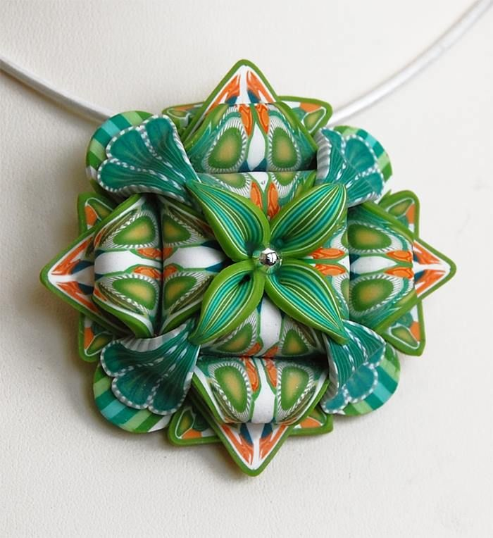 Polymer clay pendant | Touch Of Clay By Dawn Stubitsch